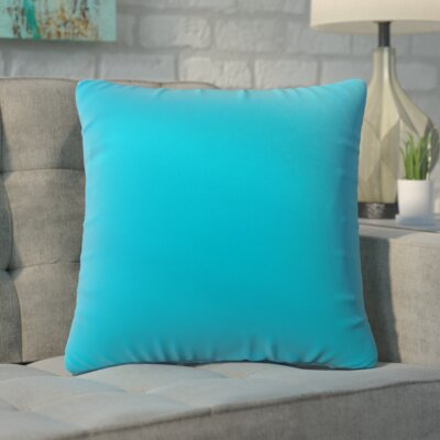 Ansley Solitaire Throw Pillow Color: Blue