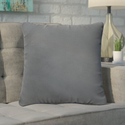 Branan Square Knife Edge Indoor/Outdoor Throw Pillow Color: Charcoal, Size: 22 H x 22 W x 6 D