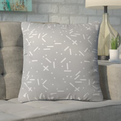 Kester Modern Square Indoor/Outdoor Throw Pillow Size: 18