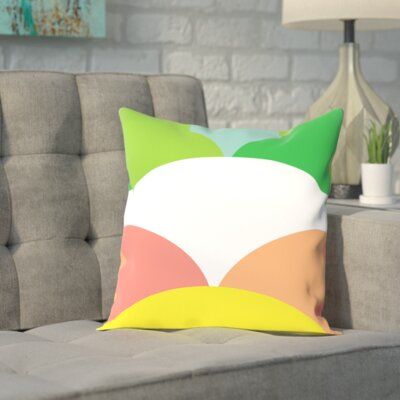Spring Color Circles Outdoor Throw Pillow Size: 18 H x 18 W x 2 D
