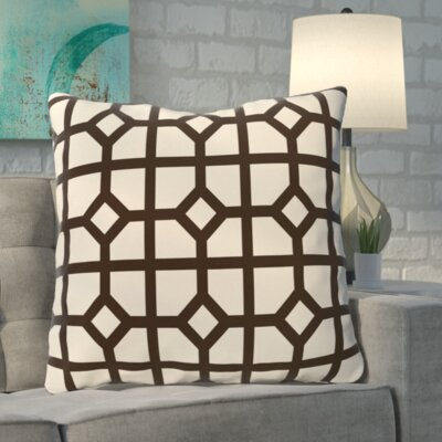 Kestner Dont Fret Geometric Print Floor Pillow Color: Dark Brown