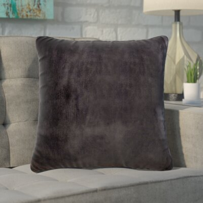 Markos Velvet Throw Pillow Color: Coal, Size: 20 x 20