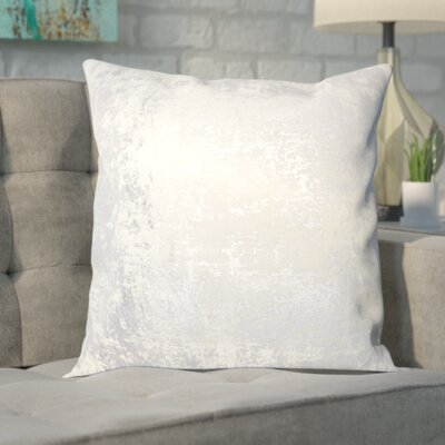 Biscoe Distressed Metallic Throw Pillow Color: Silver