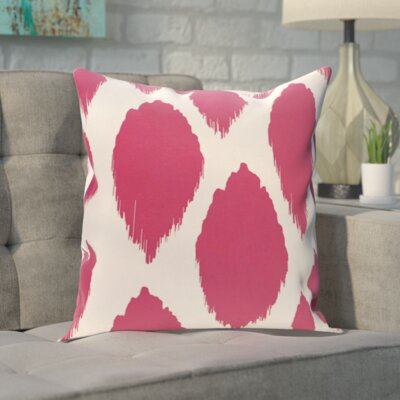 Blackwood Outdoor Throw pillow Color: Fushia, Size: 18 H x 18 W x 1 D
