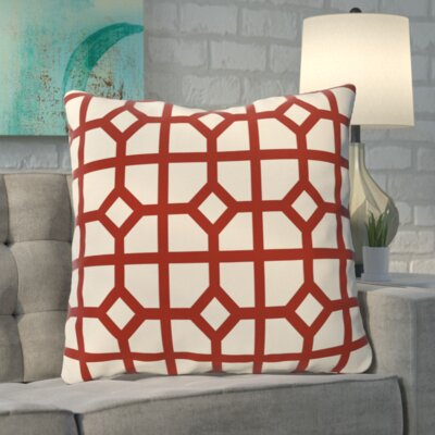 Kestner Dont Fret Geometric Print Floor Pillow Color: Orange