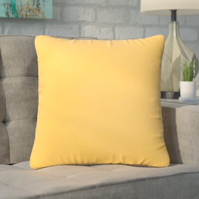 Branan Square Knife Edge Indoor/Outdoor Throw Pillow Size: 22 H x 22 W x 6 D, Color: Butter Yellow