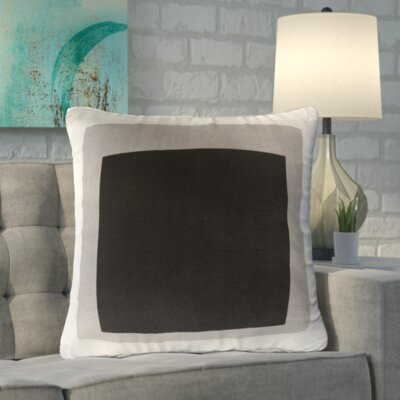 Vasquez 100% Cotton Throw Pillow Cover Size: 22 H x 22 W x 1 D, Color: BlackGray