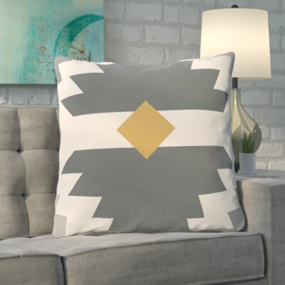 Roberson Geometric Print Floor Pillow Color: Gray