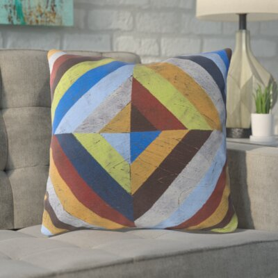 Hisey Charm in Color and Shape Outdoor Throw Pillow Size: 20 W x 20 D