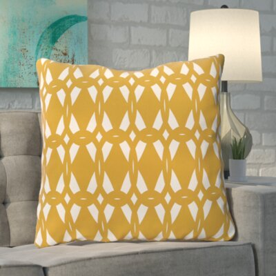 Aerin Geo-Craze Geometric Print Floor Pillow Color: Gold