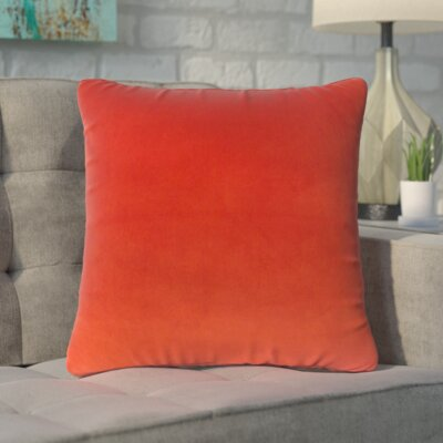 Markos Velvet Throw Pillow Color: Salsa, Size: 18 x 18