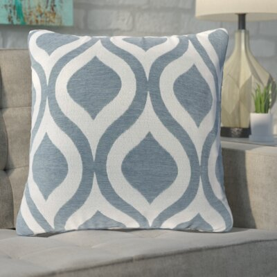 Olsen Chenille Throw Pillow Color: Blue