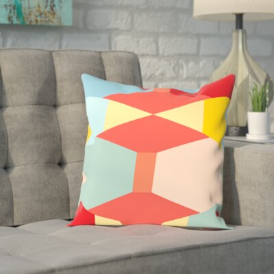Geometric Multi Outdoor Throw Pillow Size: 16 H x 16 W x 2 D