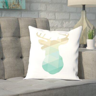 Brockman Gold Mint Deer Up To Outdoor Throw Pillow Size: 20 H x 20 W x 2 D