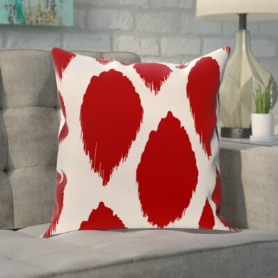 Blackwood Outdoor Throw pillow Color: Red, Size: 20 H x 20 W x 1 D
