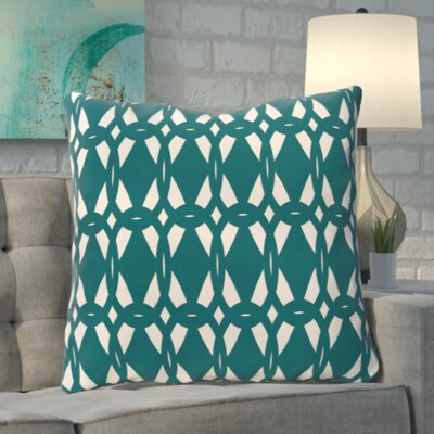 Aerin Geo-Craze Geometric Print Floor Pillow Color: Teal