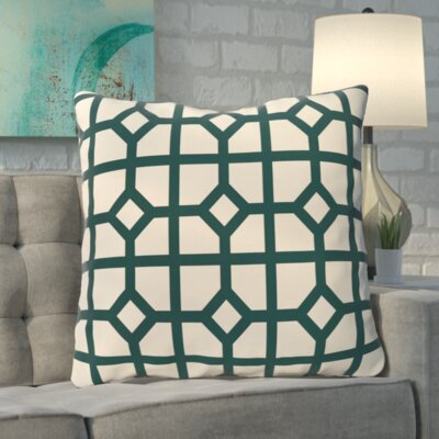 Kestner Don't Fret Geometric Print Floor Pillow Color: Teal