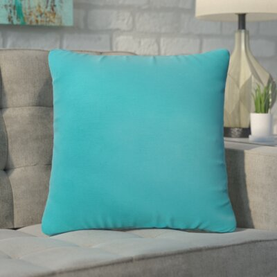 Branan Square Knife Edge Indoor/Outdoor Throw Pillow Color: Aqua Blue, Size: 18 H x 18 W x 6 D