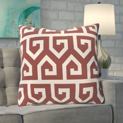 Boyer Keyed Up Geometric Print Floor  Pillow Color: Rust