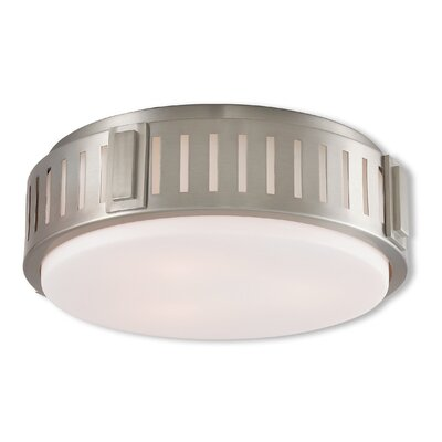 Kuhl 3-Light Flush Mount Finish: Brushed Nickel