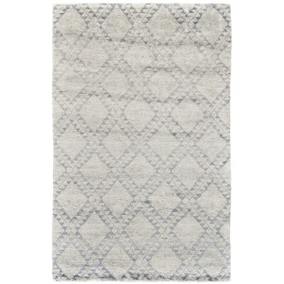 Octavia Hand-Knotted Ice Area Rug Rug Size: Rectangle 56 x 86