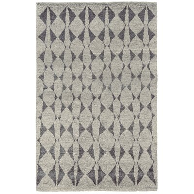 Octavia Hand-Knotted Gray Area Rug Rug Size: Rectangle 56 x 86