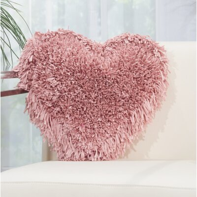 Bressler Heart Throw Pillow Color: Rose