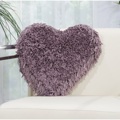 Bressler Heart Throw Pillow Color: Lavender