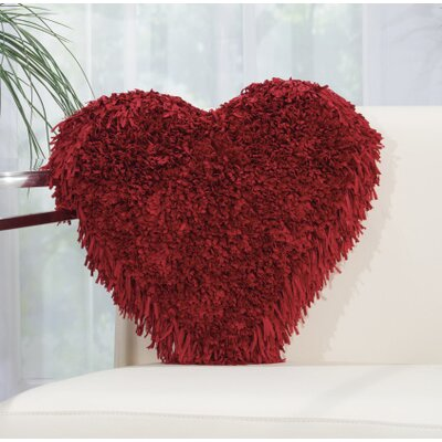 Bressler Heart Throw Pillow Color: Deep Red