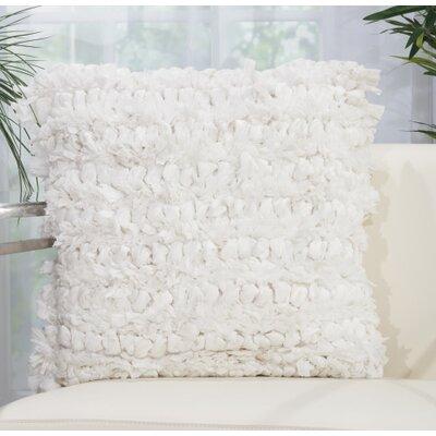 Newburyport Modern Throw Pillow Color: White