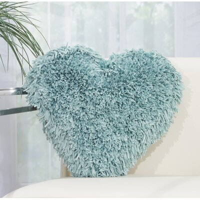 Bressler Heart Throw Pillow Color: Celadon