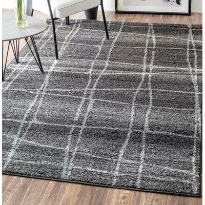 Zuri Chalkboard Checkers Gray Area Rug Rug Size: 4 x 6