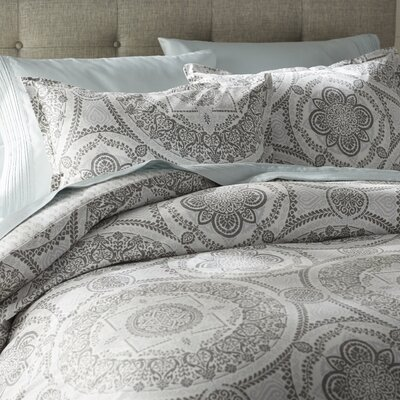 Apollo Medallion 150 Thread Count 100% Cotton Duvet Set Size: Full / Queen
