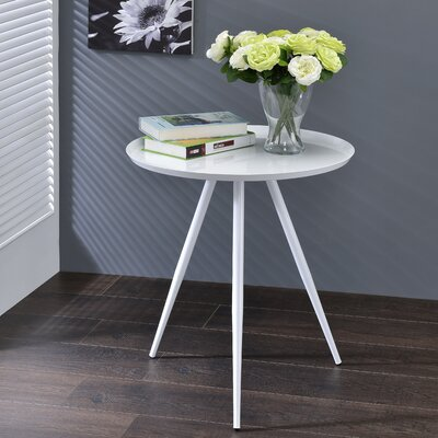 Bail End Table Finish: White