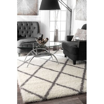 Bronson Off-White Area Rug Rug Size: Rectangle 53 x 76