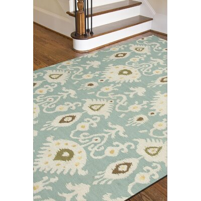One-of-a-Kind Aiden Hand-Woven Wool Bungalow Blue/Ivory Area Rug