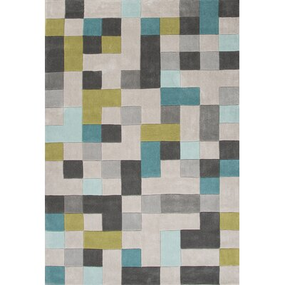 Bard Hand-Tufted Gray Area Rug Rug Size: 36 x 56