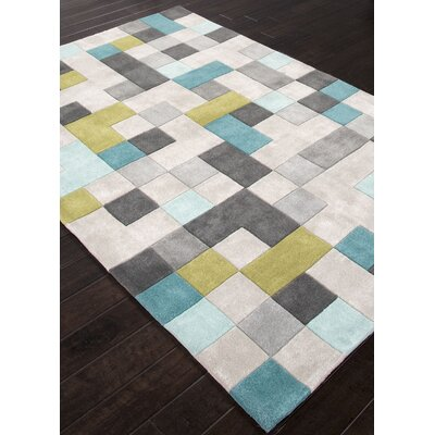 Bard Hand-Tufted Gray Area Rug Rug Size: Rectangle 36 x 56