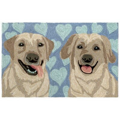 Barela Puppy Love Doormat Color: Blue