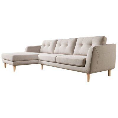 Harold Sectional Upholstery: Light Gray, Orientation: Left Hand Facing