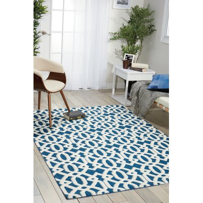 Tabris Navy/White Area Rug Rug Size: Rectangle 8 x 10