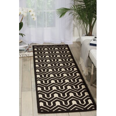 Zopyros Black/Ivory Area Rug Rug Size: Rectangle 22 x 7