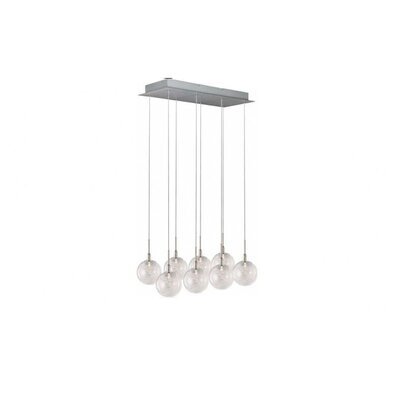 Kugler 8-Light Mini Pendant Glass Color: Threaded