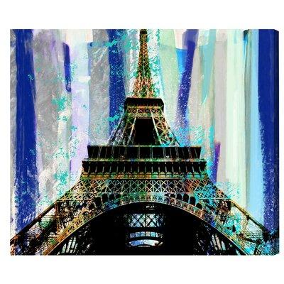'Sapphire Paris' Graphic Art Print on Wrapped Canvas Size: 13