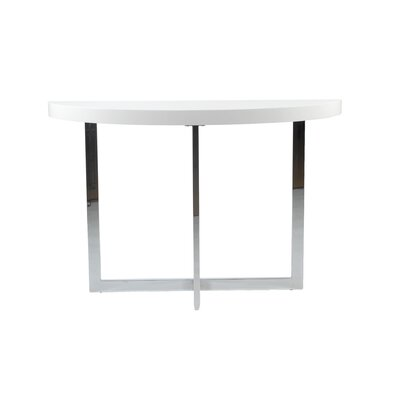 Annia Console Table in Chrome / White
