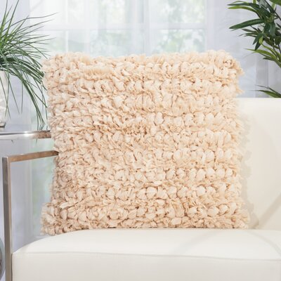 Breshears Throw Pillow Color: Beige, Size: 20 H x 20 W x 0.5 D