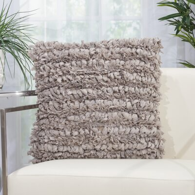 Newburyport Contemporary Throw Pillow Color: Gray, Size: 20 H x 20 W x 0.5 D