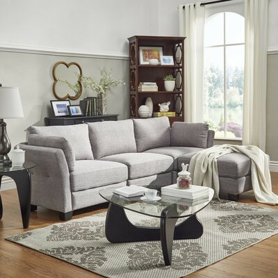 Alkmene Reversible Sectional Upholstery: Gray