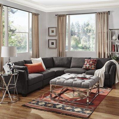 Alkmene Reversible Sectional Upholstery: Gray