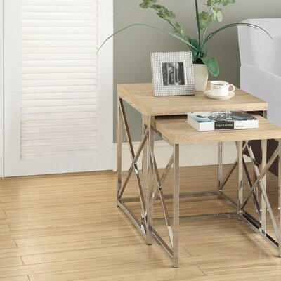 Baez 2 Piece Nesting Table Set Finish: Natural